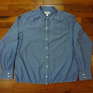 Ann Taylor Loft Button Front Chambray Top